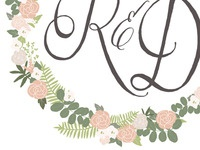 Rach + David  wedding monogram