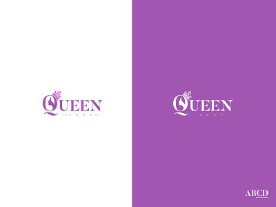 QueenShop design typography logo branding