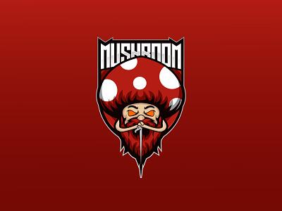 Mushroom Mascot ux ui logo vector illustration gamers design branding video channel cartoon angry gamers logo gaming logo design esport mascot mushroom