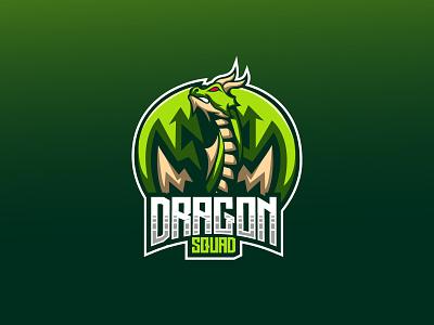Green Dragon Mascot cartoon animation graphic design logo mascot gaming gamers design branding character illustration vector logo design dragon logo dragon mascot