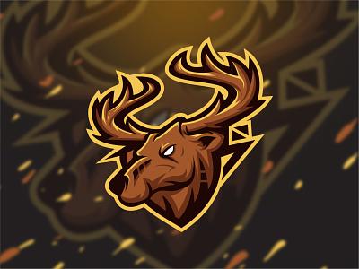 Deer Mascot logo design tattoo