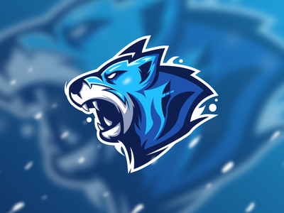 Wolf - Mascot Logo strong mascot logo wolf