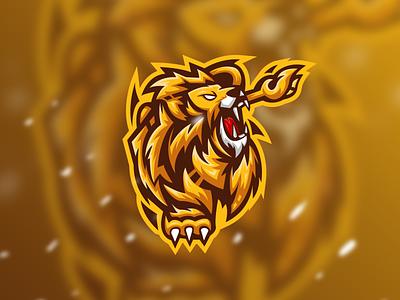Lion - Mascot Logo mammal