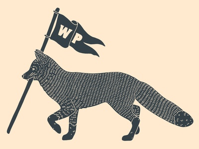 Wheat Penny Provisions Fox Logo fox logo illustration design branding adventure