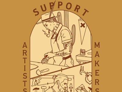 Support Local Artists + Makers support local shop small shop local illustration design branding adventure