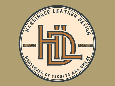 Harbinger Leather Design Rebrand leather logo illustration design branding adventure