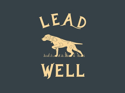 Lead Well hunting lettering logo illustration design branding adventure