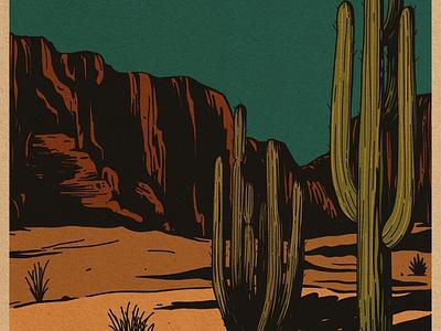 Textured Desert desert illustration design branding adventure