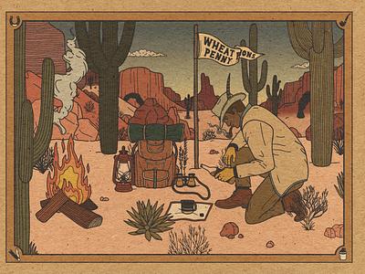 Lonesome - Now in Color! desert explorer illustration design branding adventure