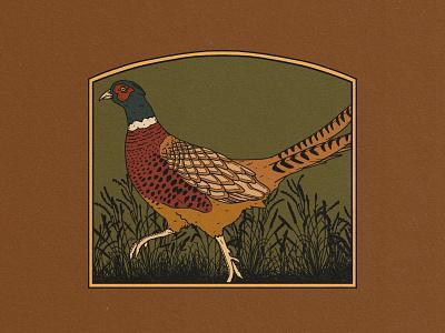Pheasant Badge badge pheasant logo design branding adventure