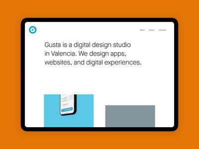Gusta - New website portfolio webdesign digital design design studio website