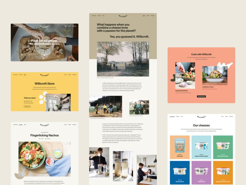 Willicroft Website packaging product header about recipe webdesign marketing website webshop ecommerce cheese vegan website willicroft