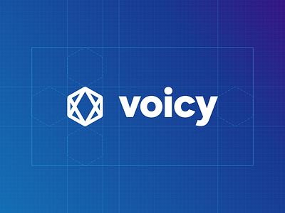 Designing the Voicy Identity blue glyph logo branding identity voicy