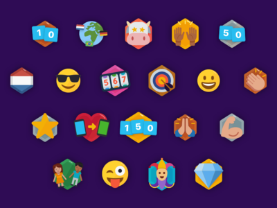 Badges for a game app achievements unlock emoji app game badges