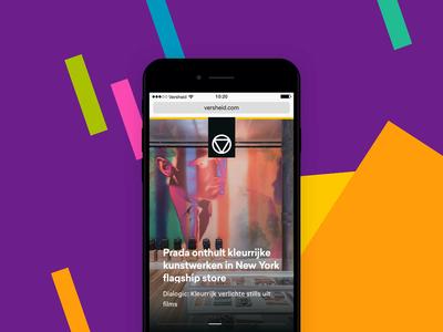 Versheid.com – Unused mobile homepage culture lifestyle blog magazine versheid animation principle prototype header slider mobile