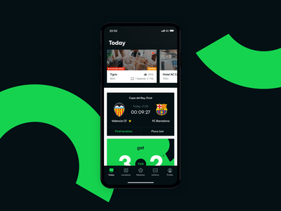 Futbar App - New Design