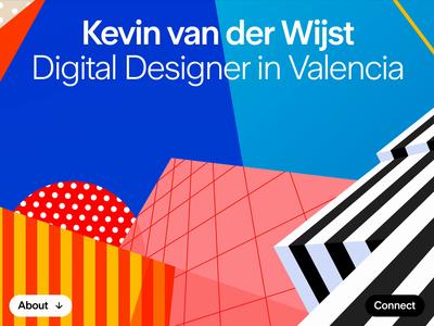 Kevin van der Wijst - Personal Website variable fonts design webdesign illustration animation canvas variable font web website design personal portfolio website