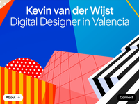 Kevin van der Wijst - Personal Website variable fonts design webdesign illustration animation canvas variable font web website design personal portfolio website
