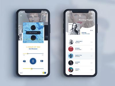 Music App Concept app design music app graphic design ui design