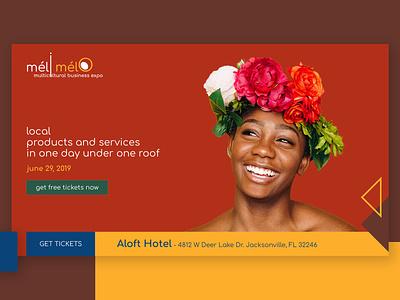 méli mélo Multicultural Business Expo Website follow me frontend design design web concept design adobexd design ux design front-end ui design