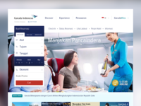 Garuda Indonesia website redesign