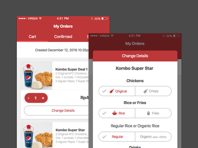 KFC mobile app delivery food indonesia app mobile kfc