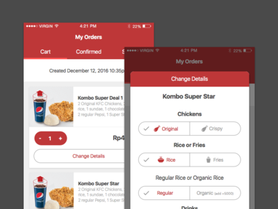 KFC mobile app delivery food indonesia app mobile kfc