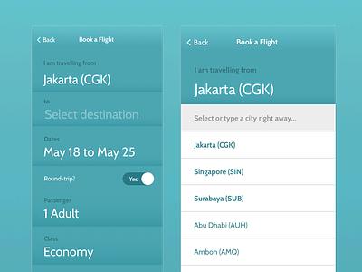 Garuda Indonesia iteration airline travel air redesign app mobile indonesia garuda