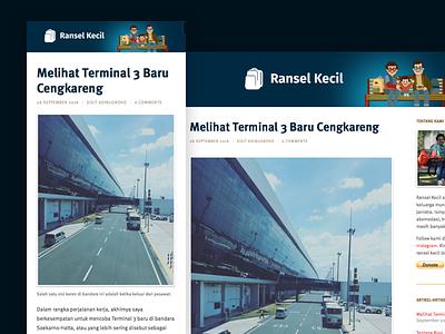Travel Blog Design design blog travel