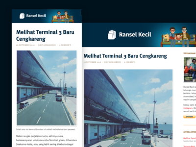Travel Blog Design design blog travel