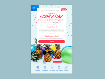HomeAway Family Day Emailer design graphic email emailer