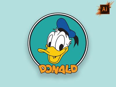 Donald Duck Vector branding design graphic design typography logo ui illustration vector