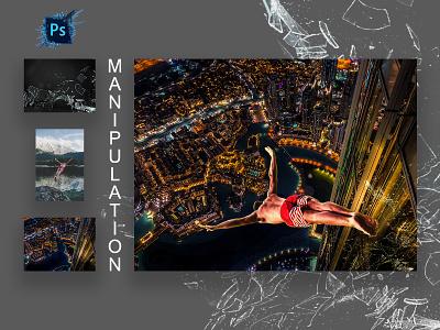 Manipulation Work photoshop manipulation animation app logo ui branding typography graphic design design