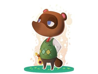 Tom Nook - Animal Crossing (DailyXing #5) illustration character design video games gaming nintendo animalcrossing tom nook tanooki