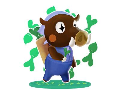 Joan - Animal Crossing (DailyXing #26) illustration character design characterdesign joan animal crossing animalcrossing