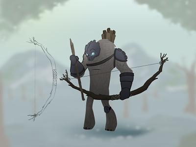 Treeslinger concept art conceptart character design characterdesign digitalart art