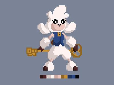 Jacqueline Pixel Art (WIP) videogames key lamb character design pixelart pixel
