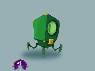 [1] An Unlock - #100Days100Characters lock key gaming enemy minion character illustration characterdesign videogame game