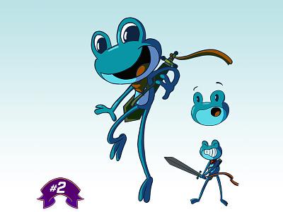 #2 A Brave Frog, full of Courage adventurer warrior sword amphibian frog