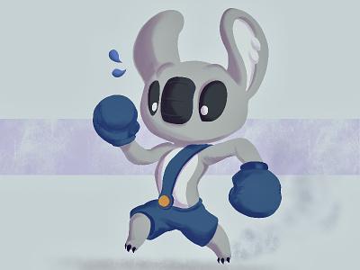 Klobbs In a Hurry characterdesign cartoon bear boxer mascot games gamecharacter koala