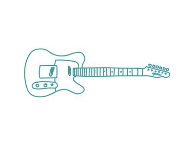 Telecaster Doodle fender telecaster guitar doodle illustration