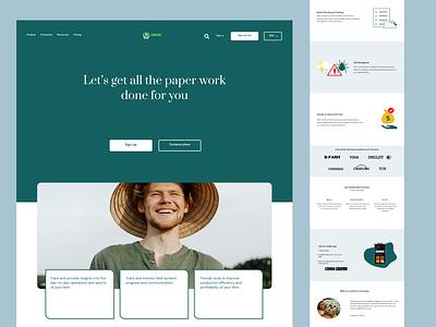 SaaS landing page landing page website saas website saas illustration web design uiux ui figma design