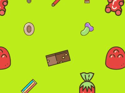 Candy Pattern branding animation illustration design
