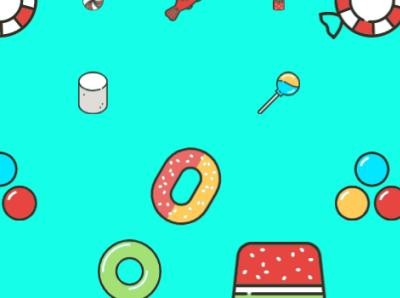 Candy Pattern (2) illustration logo branding design animation