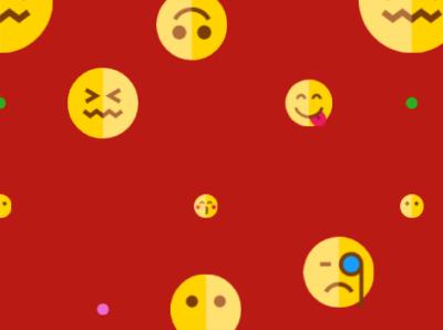 Emoticon Pattern logo ui illustration design branding animation