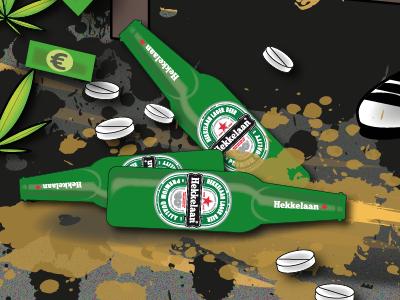 Hekkelaan Premium Lager Beer ggddv illustrator vector