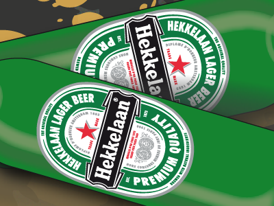 Hekkelaan Premium Lager Beer - close ip ggddv illustrator vector