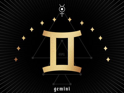 Zodiac - Gemini vector branding design magick brand design mysticism astrology illustration graphic design planetary occultism gemini zodiac sign zodiac
