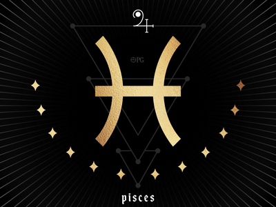 Zodiac - Pisces vector brand design brand identity branding illustration design blogger magick planetarymagick planetary pisces occult astrology zodiac sign zodiac