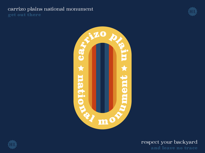 Get Out There - Carrizo Plains National Monument retro public lands plains outdoors sticker outdoors design outdoors nature design nature national monument great outdoors get out there get outside california bureau land management blm
